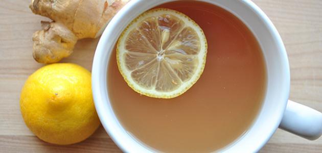 طريقة عمل شاي الزنجبيل والليمون