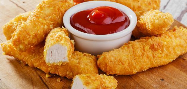 طريقة أصابع الدجاج