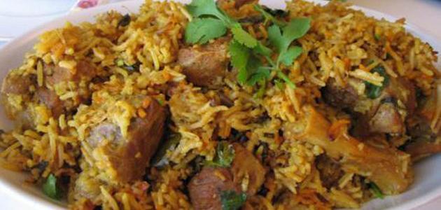 طريقة عمل برياني اللحم الهندي