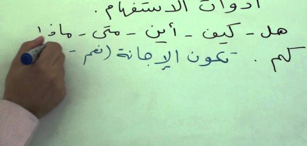 ما هي أدوات الإستفهام في اللغة العربية