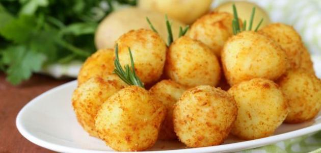 طريقة كرات البطاطس بالجبن
