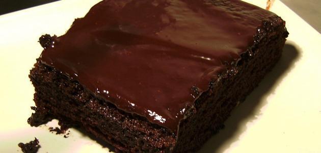 طريقة كيكة بالشوكولاتة