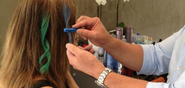 طريقة استعمال طباشير الشعر