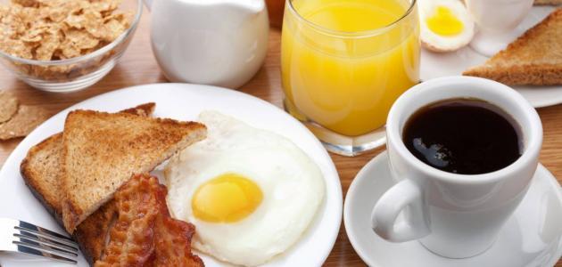 مكونات وجبة الإفطار
