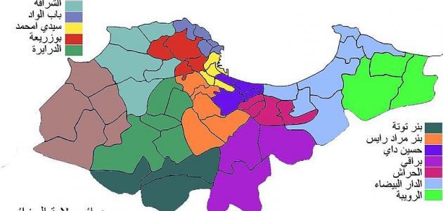 عدد سكان ولايات الجزائر