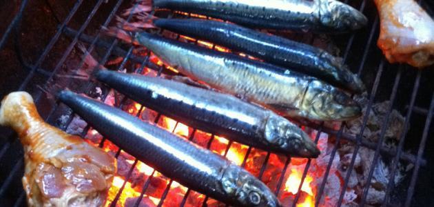 طريقة تتبيل السمك المشوي على الفحم