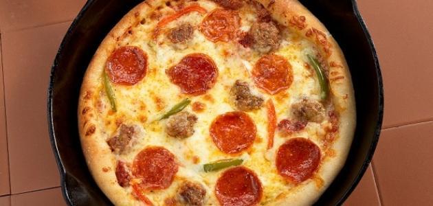 عمل بيتزا دون فرن
