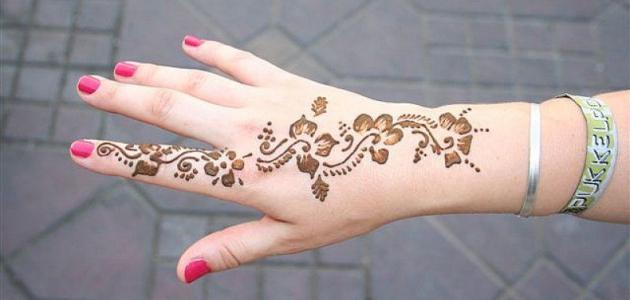 طريقة نقش الحناء المغربية