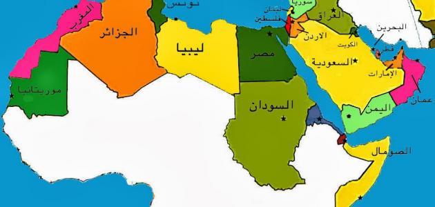 مساحة الدول العربية وعدد سكانها موضوع