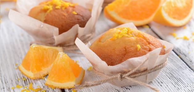 طريقة عمل كب كيك البرتقال
