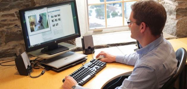 حماية العين من أشعة الكمبيوتر