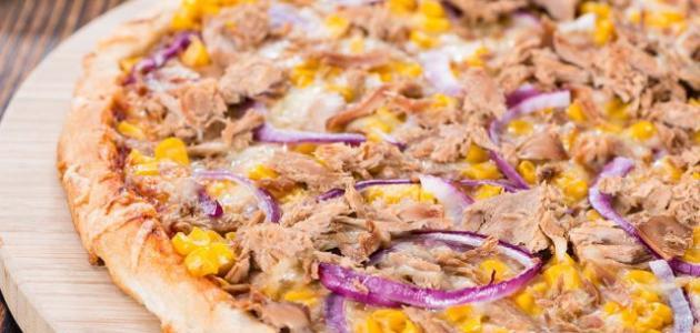طريقة البيتزا بالتونة