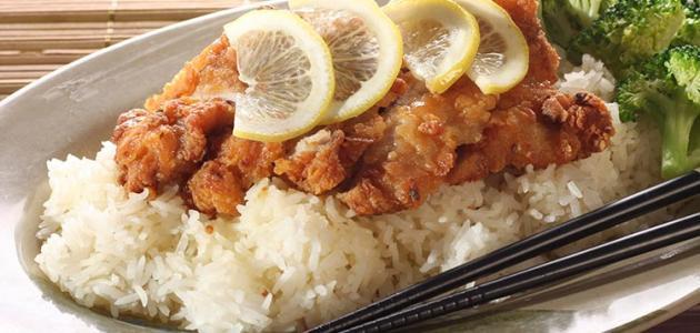 طريقة عمل ارز السمك