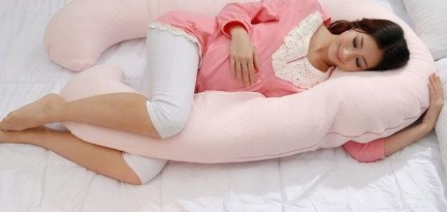 طرق النوم للحامل