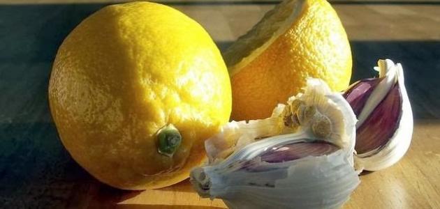 فوائد الليمون مع الثوم