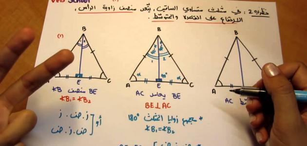 قانون محيط المثلث متساوي الساقين