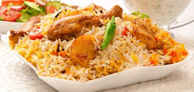 عمل برياني الدجاج الهندي