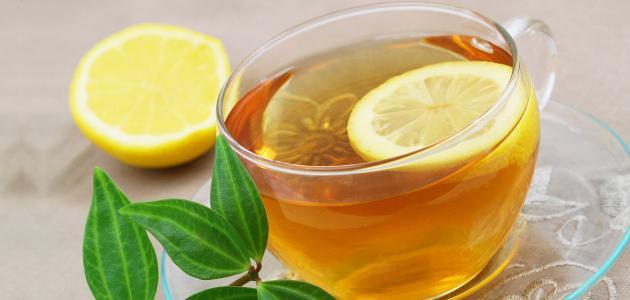 فوائد الليمون مع الشاي