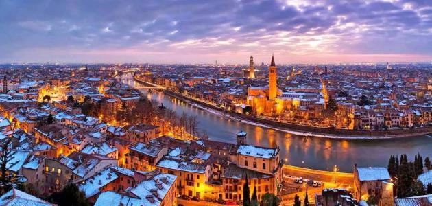 مدينة فيرونا الإيطالية
