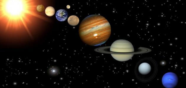 ما مكونات النظام الشمسي