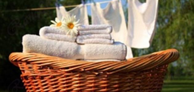 كيف تغسل الملابس البيضاء