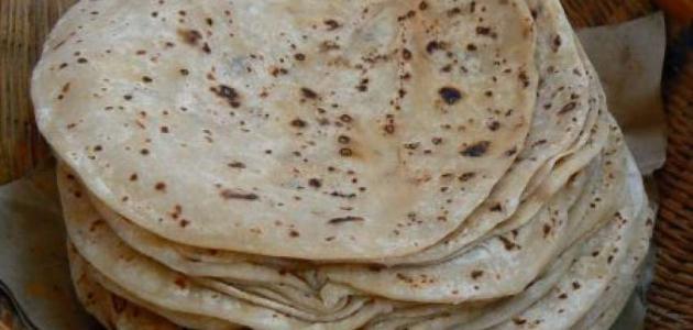 طريقة عمل الخبز على الصاج