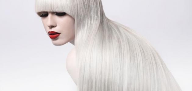 طريقة صبغ الشعر رمادي فاتح