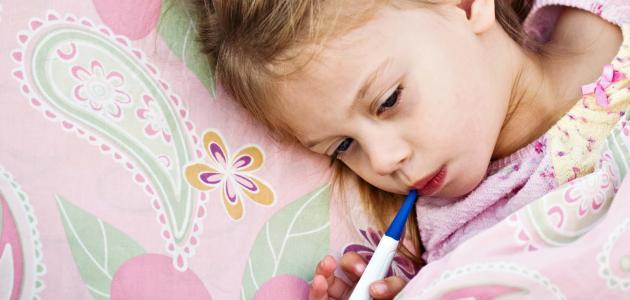 أعراض ارتفاع درجة الحرارة عند الأطفال