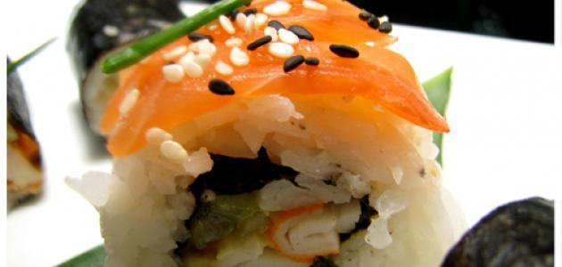 ما هي مكونات السوشي