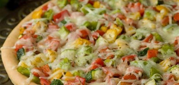 عمل بيتزا الخضار
