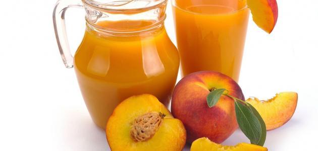 كيفية صنع عصير الخوخ