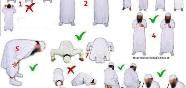 كيفية الصلاة الصحيحة للرجال