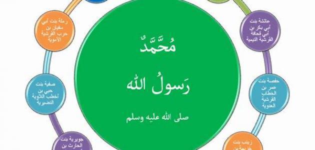 كم عدد زوجات الرسول محمد صلى الله عليه وسلم