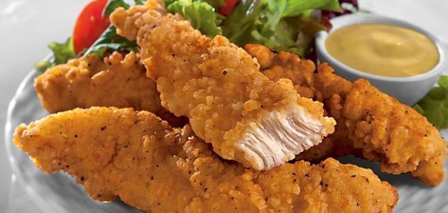 طريقة قلي الدجاج بالبقسماط