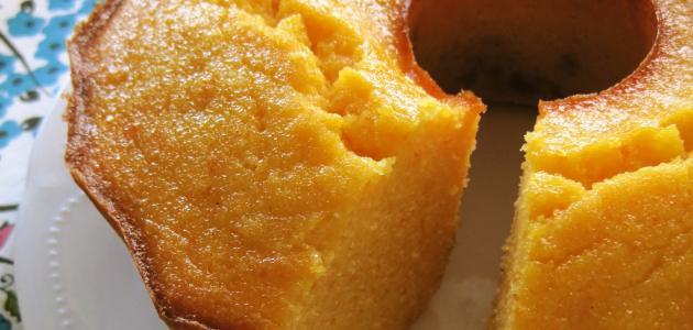 طريقة عمل كيكة دقيق الذرة بالبرتقال