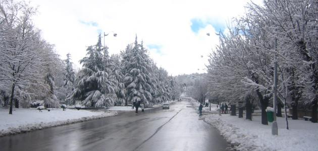 مقال وصفي عن الشتاء