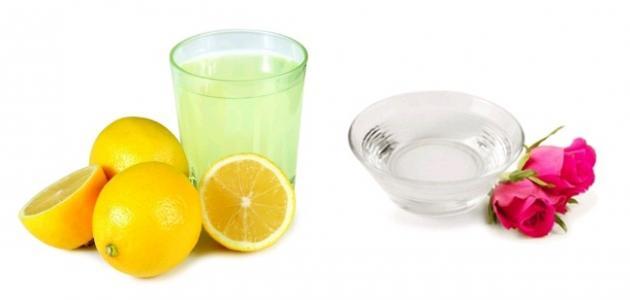 فوائد ماء الورد والليمون للوجه