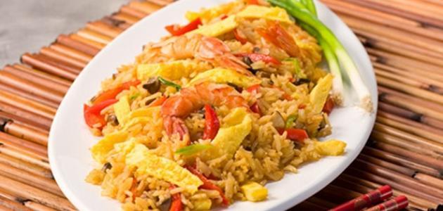 طريقة عمل أرز بالجمبري والكاري