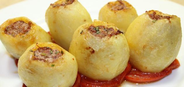 طريقة البطاطس باللحمة المفرومة