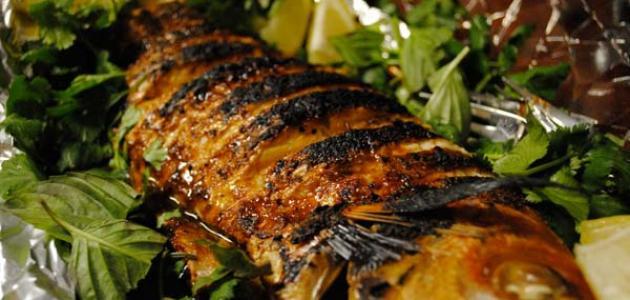 طريقة طبخ السمك المشوي