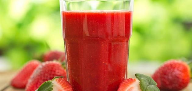 طريقة عمل عصير فراولة طبيعي