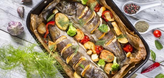 طريقة عمل صينية السمك البوري