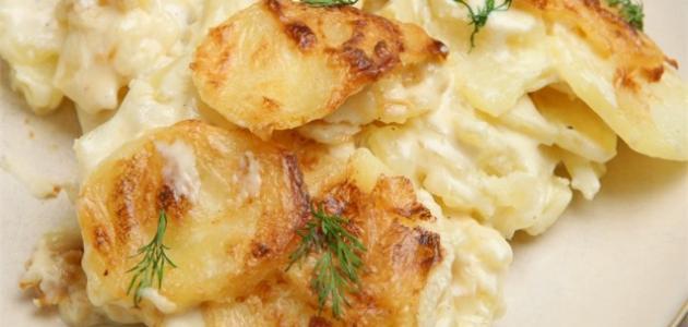 طريقة البطاطس بالكريمة