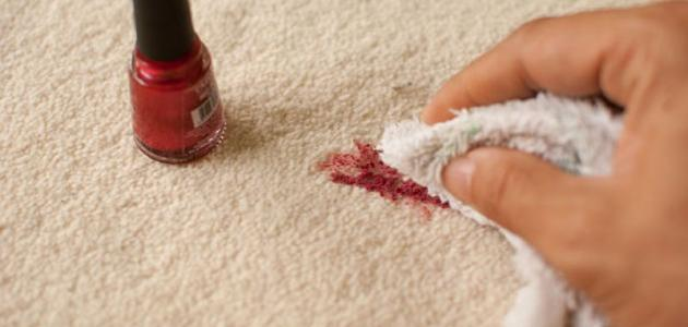 طريقة إزالة صبغ الأظافر من الملابس