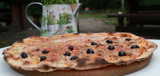 طريقة عمل البيتزا بدون جبنة
