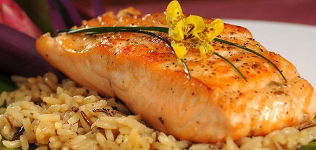 طريقة عمل السمك مع الأرز