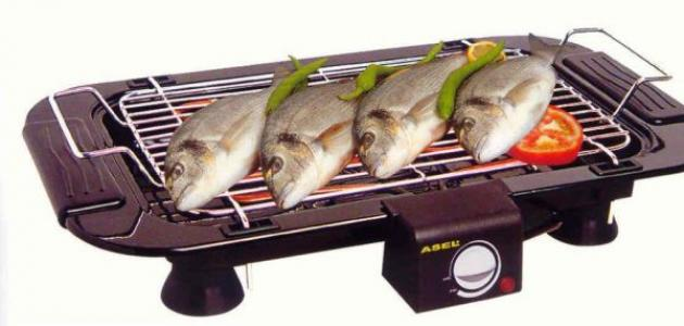 طريقة شوي السمك على الشواية الكهربائية