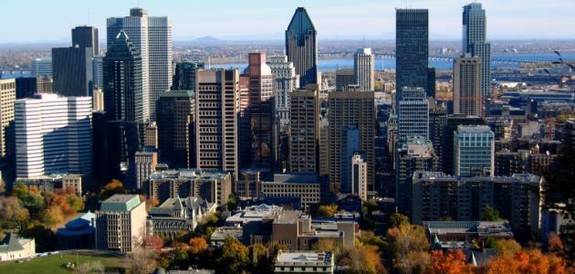 مدينة مونتريال الكندية