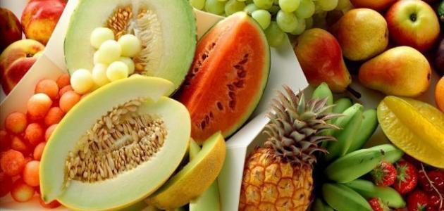 فواكه وخضروات تنقص الوزن