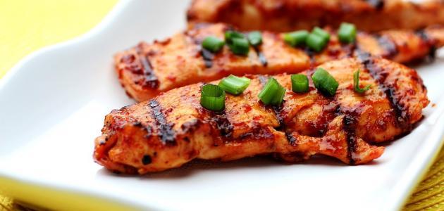 كيفية عمل تكة دجاج